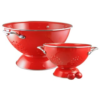 Reston Lloyd Colander Set/ 1.5-quart and 5-quart / Red