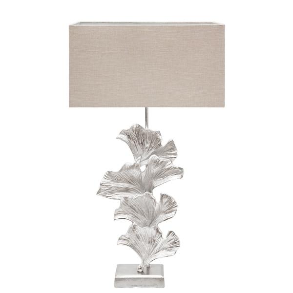 Urban Designs Handcrafted Nickel Leaf Art Table Lamp