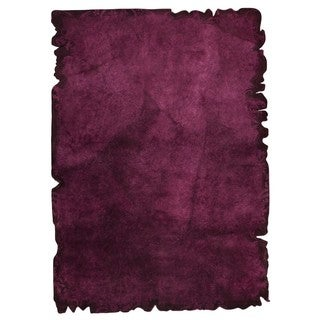M.A.Trading Hand-tufted Indo Jalwa 2 Purple Rug (7'10 x 9'10)
