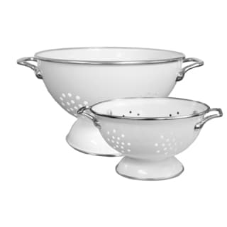 Reston Lloyd Colander Set/ 1.5-quart and 5-quart / White
