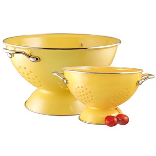 Reston Lloyd Colander Set/ 1.5-quart and 5-quart / Lemon
