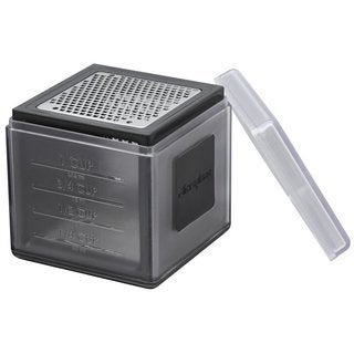 Microplane 34002 3-in-1 Cube Grater, Black