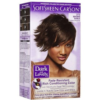 SoftSheen Carson Dark and Lovely Permanent Hair Color 373 Brown Sable (Pack of 3)
