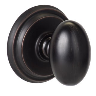 Sure-Loc Canyon Solid Brass Vintage Bronze Egg-Shaped Door Knob