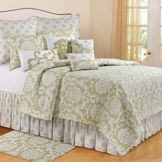 Providence Cucumber Green Cotton Euro Sham