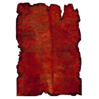 M.A.Trading Hand-tufted Indo Jalwa 1 Red Rug (7'10 x 9'10)
