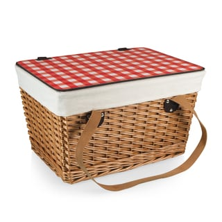 Picnic Time Canasta Brown Natural Flat Lid Basket