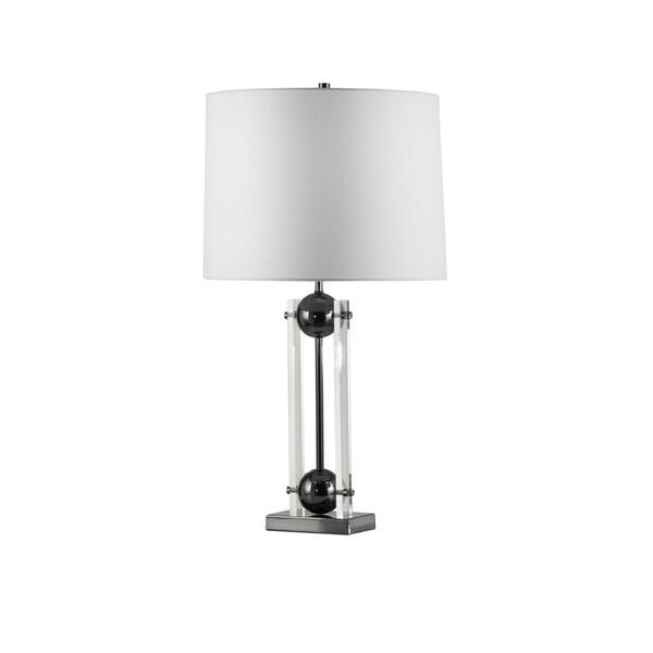 Nova Barbeto Black Nickel Table Lamp