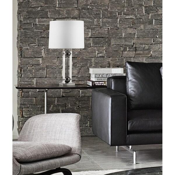 Nova Barbeto Modern Black Nickel Table Lamp