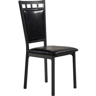 Black Metal and Upholstered Dining Chair