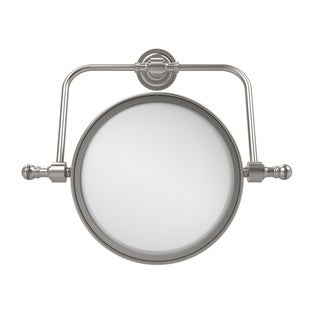 Allied Brass Retro Dot Collection Wall Mounted Swivel Make-Up Mirror 8-inch Diameter with 5X Magnification