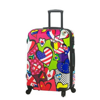 Mia Toro Italy International Love 24-inch Expandable Hardside Fashion Spinner Suitcase