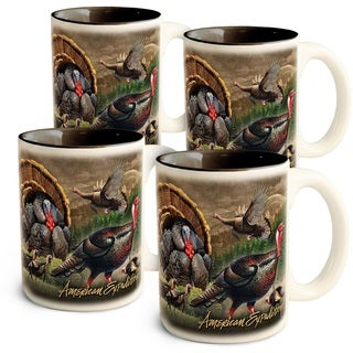 American Expedition Collage Coffee Mugs, Turkey, 4 Set
