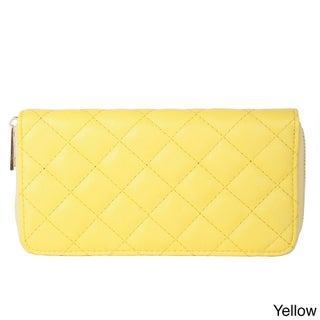 Rimen & Co. Simple Quilted Faux Leather Wallet (Option: Yellow)