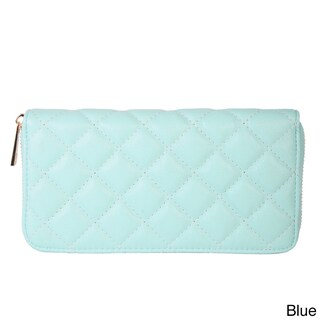 Rimen & Co. Simple Quilted Faux Leather Wallet (Option: Blue)