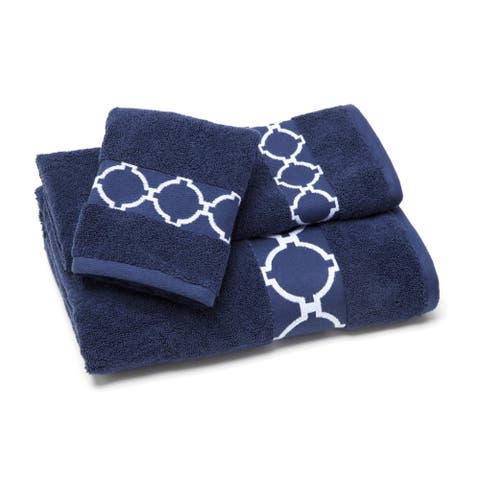 The Curated Nomad Clemente 4-piece Links Bath Towel Set