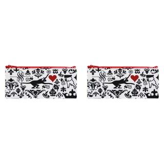 Carolina Pad True Love Street Large Zipper Pouch 4 x 8.75-inches Multicolored