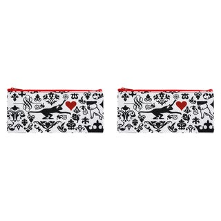 Carolina Pad True Love Street Large Zipper Pouch 4 x 8.75-inches Multicolored