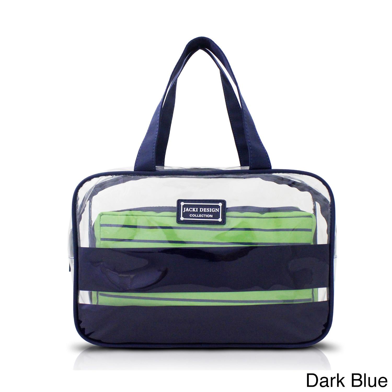 Jacki Design Felicita 2-piece Travel Tote Bag Set (Blue),...