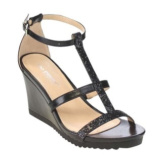 VIA PINKY AISLINN-02 Women's Lug Sole Wedges Dress Sandals Run Half Size Big