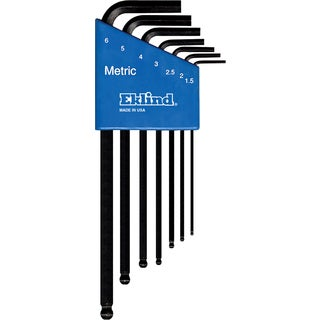 Eklind 13607 Long Series Ball-Hex-L Key Set 7-count