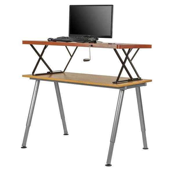 Halter Manual Adjustable Height Sit / Stand Tabletop Desk ...