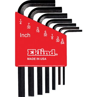 Eklind 10107 Cushion Grip Hex T-Key Set 7-count