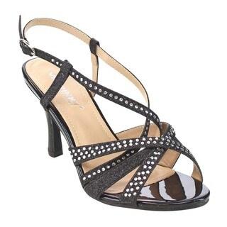 VIA PINKY CLAUDIA-91 Women's Rhinestone Glittering Cover Heels