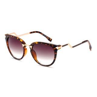 Dasein Retro Style Sunglasses with Zigzag Arms