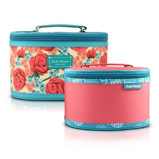 Jacki Design Miss Cherie 2-piece Floral Train Case Set