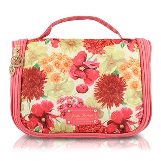 Jacki Design Miss Cherie Floral Hanging Toiletry Bag