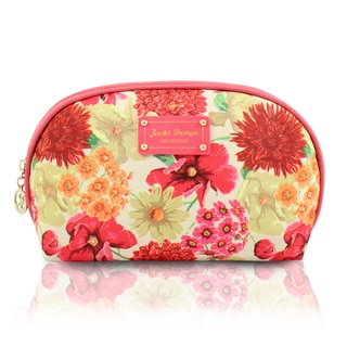 Jacki Design Miss Cherie Round Top Floral Cosmetic Case