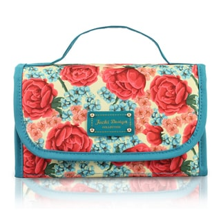 Jacki Design Miss Cherie Floral Roll-Up Cosmetic Toiletry Organizer Bag
