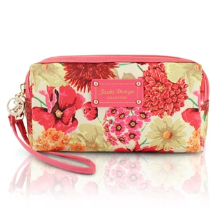 Jacki Design Miss Cherie Floral Cosmetic Toiletry Wristlet