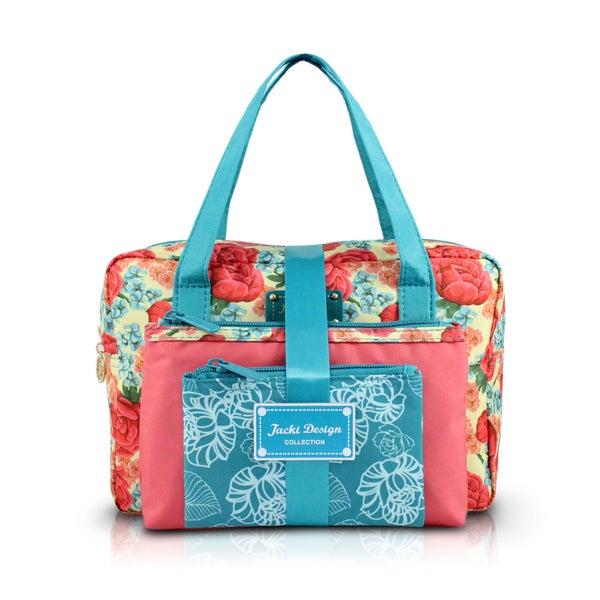 jacki design miss cherie 3piece floral cosmetic toiletry bag gift set with rectangular large