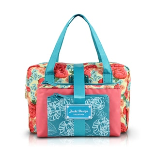 Jacki Design Miss Cherie 3-piece Floral Cosmetic Toiletry Bag Gift Set with Rectangular Large Bag
