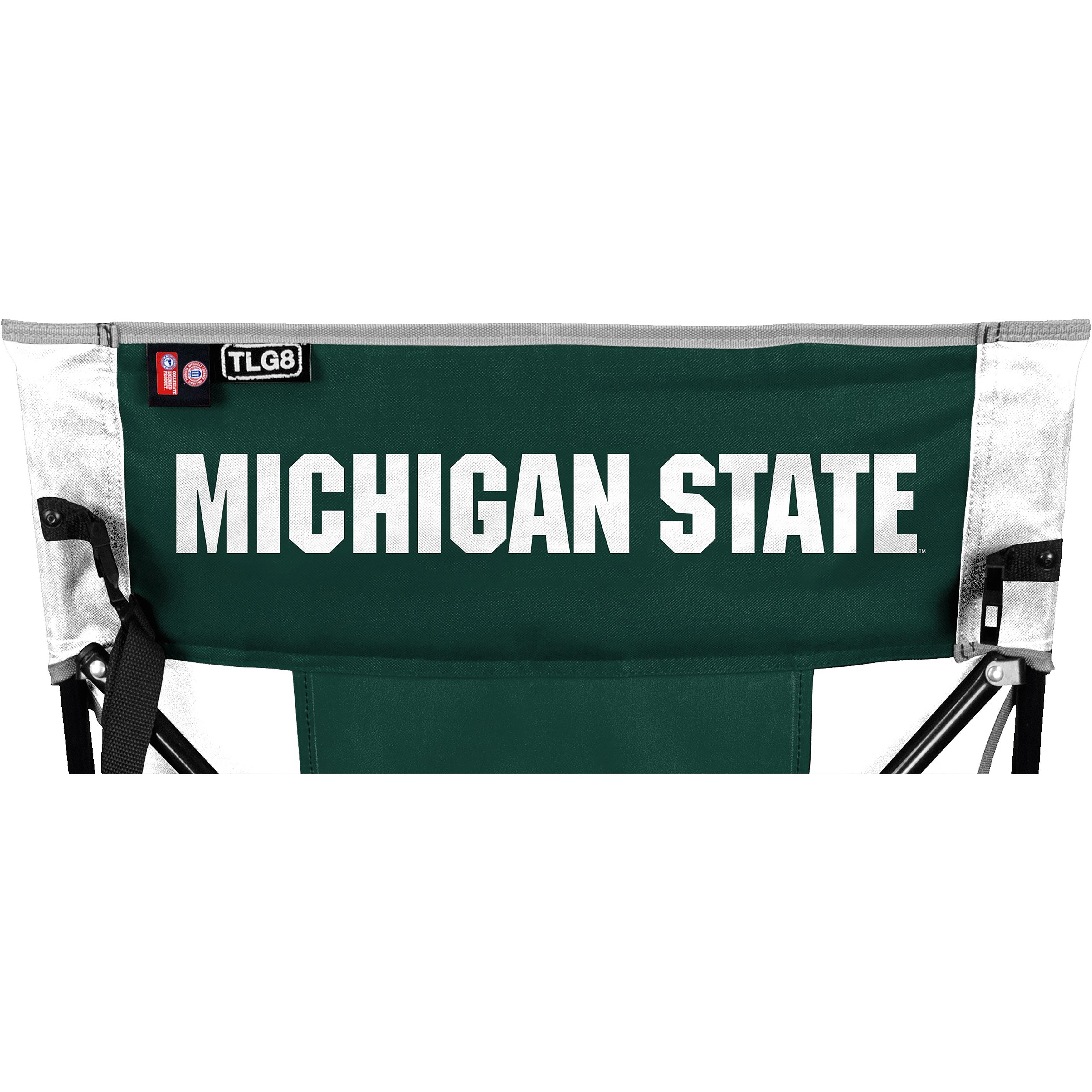 Rawlings Ncaa Tailgate Chair Michigan State, Silver steel