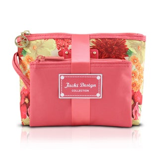 Jacki Design Miss Cherie 2-piece Floral Cosmetic Toiletry Bag Gift Set
