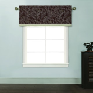 Kyle II Jacobean Chocolate Window Valance