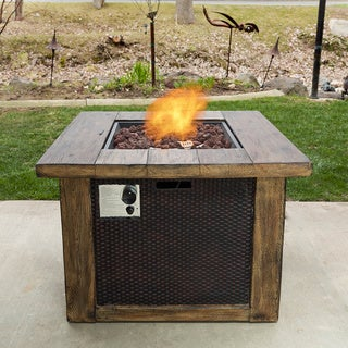 Somette Wood and Wicker Fire Pit