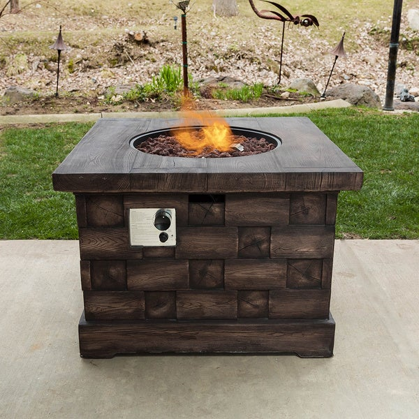 Shop Somette Wood Look Fire Pit Free Shipping Today Overstock