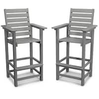POLYWOOD Captain 2-piece Outdoor Bar Chair Set