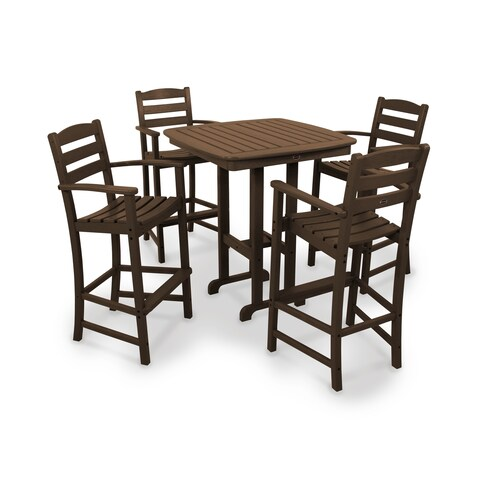 POLYWOOD La Casa Cafe 5-piece Outdoor Bar Chair Set with Table
