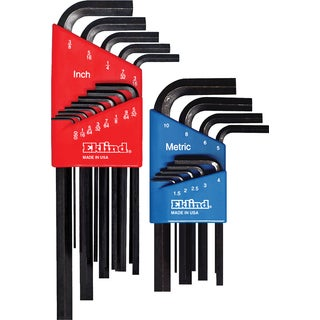 Eklind 10022 Long & Short Series Hex-L Key Set Combo Pack 22-count