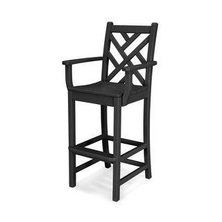 POLYWOOD Chippendale 30-inch Outdoor Bar Arm Chair
