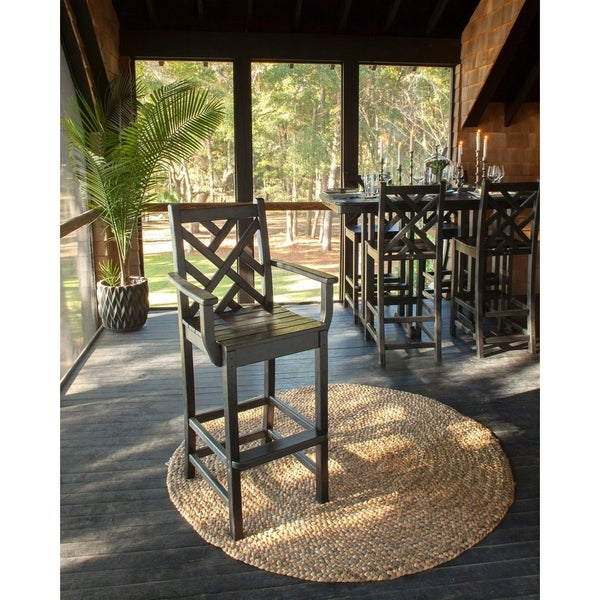 "POLYWOOD Chippendale 30"" Outdoor Bar Arm Chair"