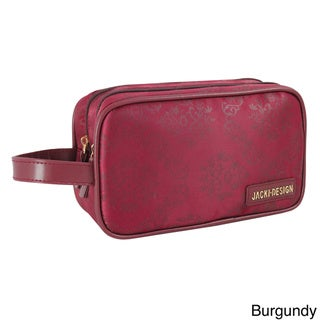 Jacki Design New Essential Dual Zipper Cosmetic Toiletry Bag