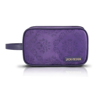 Jacki Design New Essential Dual Zipper Cosmetic Toiletry Bag