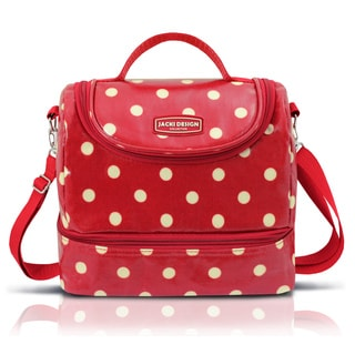 Jacki Design Polka-Dot Large 2-Compartment Lunch Bag