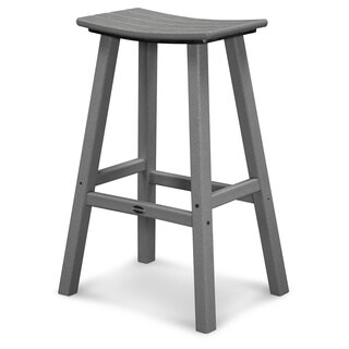 POLYWOOD Traditional Outdoor Saddle Bar Stool